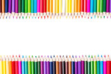 Color pencils with copy space for text