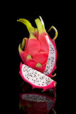 Dragon fruit isolated.