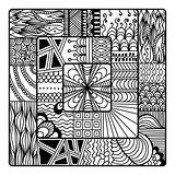 Zentangle vector for coloring book. doodle, mandala.