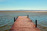 dock in the Albufera in Valencia, Spain