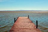 dock in the Albufera in Valencia, Spain