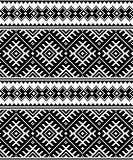 Folk art black seamless pattern from Ukraine and Belarus