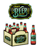 Craft Beer Bottles Illustration
