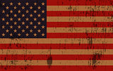 Aged Grunge Textured American Flag Illustration