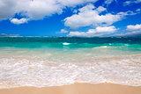Caribbean sea and cloudy sky.