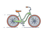 Bicycle isolated line style