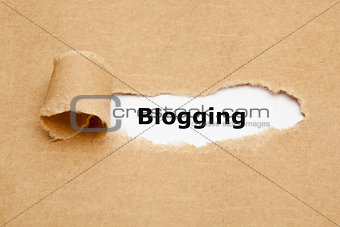 Blogging Torn Paper Concept