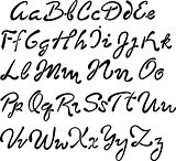Vector handwritten brush script.