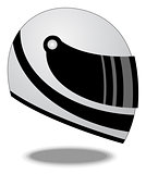 Racing helmet vector