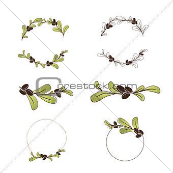 Olive or Argan Oil Logo Design Set