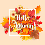Hello Autumn Background.