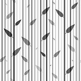 Seamless black and white pattern of stovolov trees  leaves on them. Wallpaper. Organic  natural theme.
