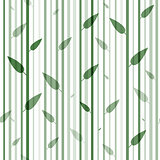 Seamless green and white pattern of stovolov trees leaves on them. Wallpaper. Organic natural theme.