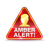 Amber Alert Warning Icon Illustration