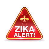 Zika Virus Alert Icon Illustration