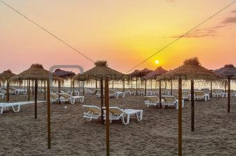 beach in Torremolinos, Spain