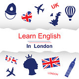 Learn english in London poster