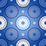 Seamless dark blue vintage patter