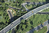 Aerial View of Highway in Istanbul city