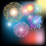 Cool colorful fireworks