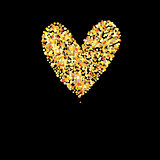 Symbol golden heart