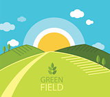 Green Farm Field