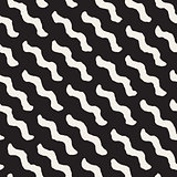 Vector Seamless Wavy Diagonal Lines Pattern