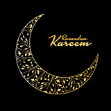 Traditional ramadan kareem month celebration. Greeting card design