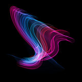 The magical form of pink blue purple smoke. abstract background