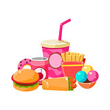 Fast Food Collection Colorful Illustration