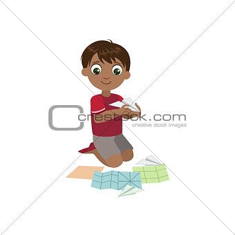 Boy Doing Paper Plane