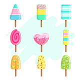 Ice Creams On Stick Collection