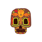 Traditional Mexican Painted Scull Icon