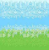 Abstraktes Muster blau grün