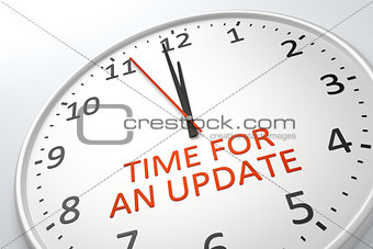 clock with text time for an update