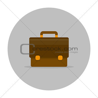 Briefcase icon flat