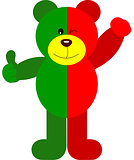 Teddy Bear Soccer Portugal Flag