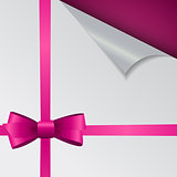 Papers with Different Corner, Bow and Ribbon and Place for Your