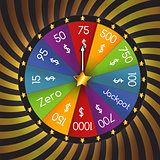 Wheel of Fortune, Lucky. Vector Illustration