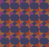 Colored Hypnotic Background Seamless Pattern.