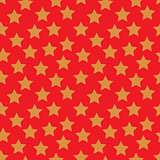 Colored Star Hypnotic Background Seamless Pattern.