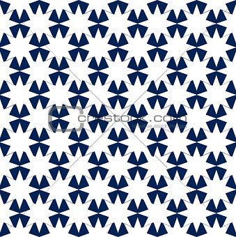 Blue and White Hypnotic Background Seamless Pattern.