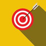 Target flat icon.