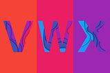 Letter VWX template