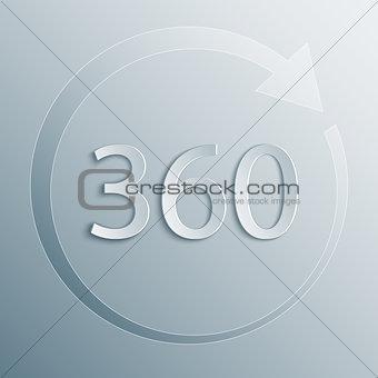 360 degrees rotation vector