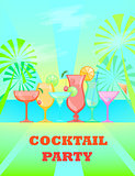Summer Cocktails. Vector background
