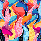 Seamless graphic pattern of waves
