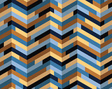 Isometric colorful pattern