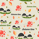 Seamless pattern with autumn elements.