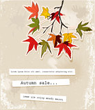 Card with autumn leaves